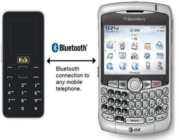 Bluetooth links Mobile to Call Mynah Telephone Call Recorder